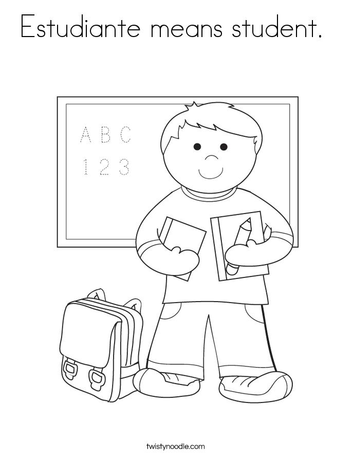 Estudiante means student.  Coloring Page