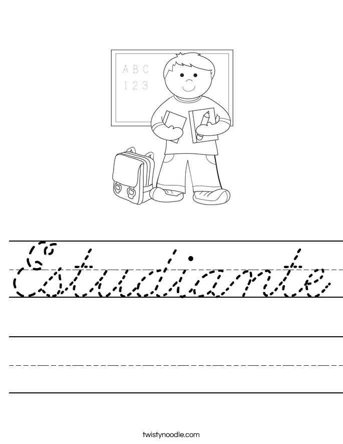 Estudiante Worksheet