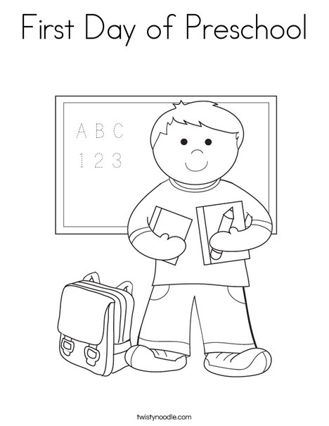 1st day of school coloring pages - Coloring Kindergarten