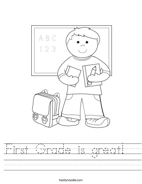 First Grade Is Great Worksheet Twisty Noodle