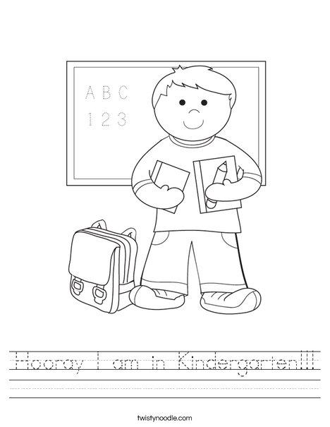 math worksheet : hooray i am in kindergarten worksheet  twisty noodle : Kindergarten Curriculum Worksheets
