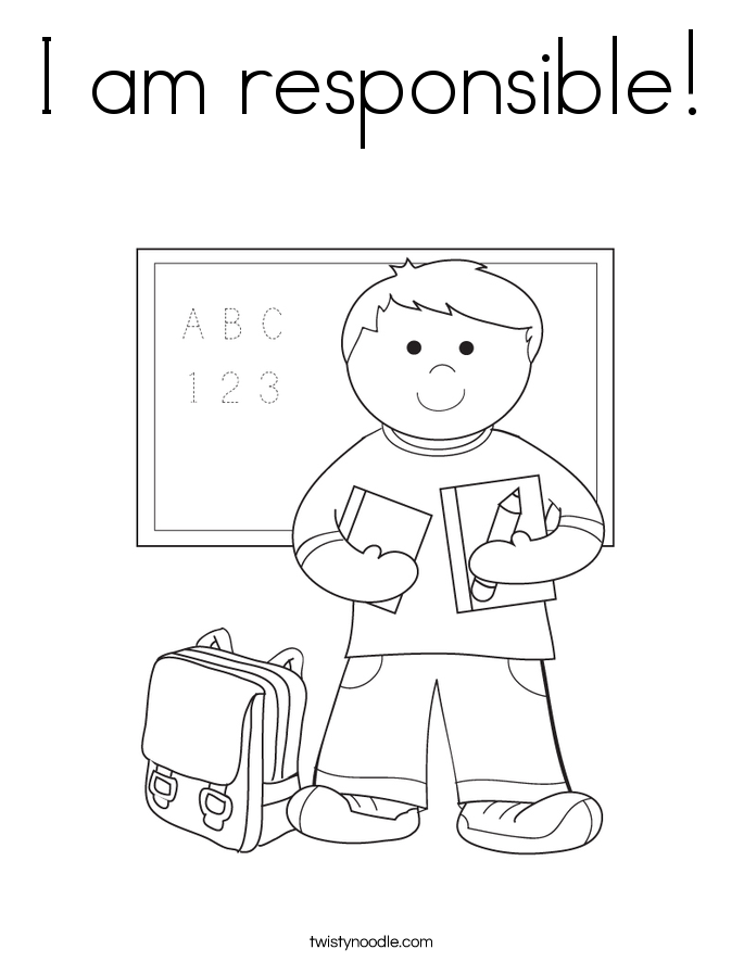 I am responsible! Coloring Page