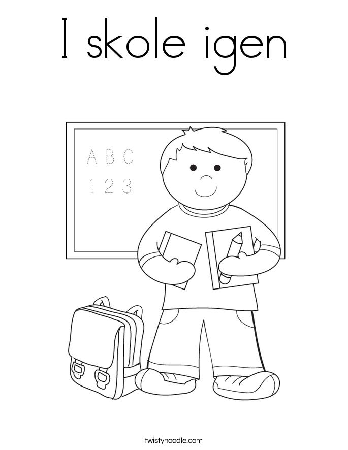I skole igen Coloring Page