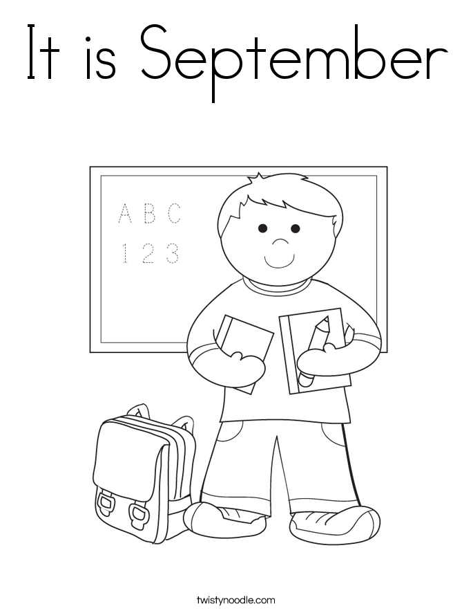 September Coloring Pages Impressive It Is September Coloring Page  Twisty Noodle Design Inspiration