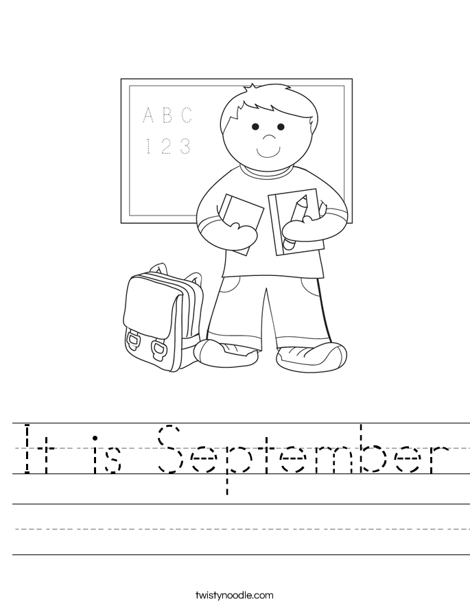It is September Worksheet