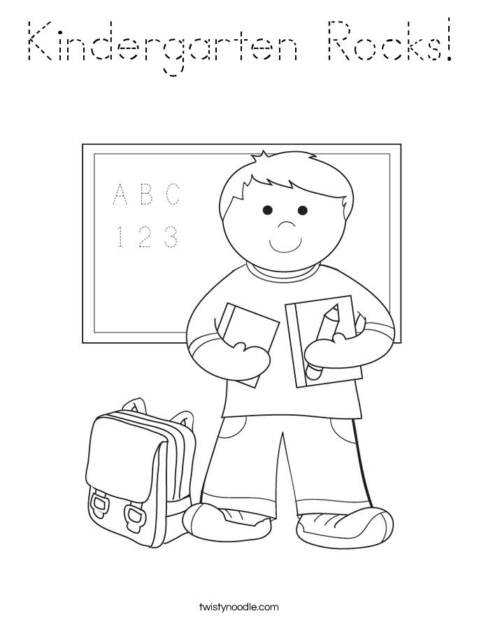 Kindergarten Rocks! Coloring Page