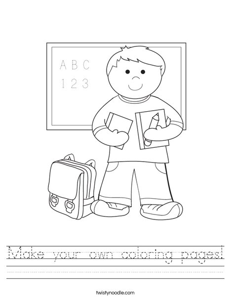create your own coloring pages - photo#27