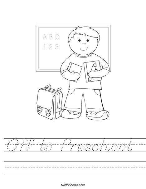 Boy Student in School Worksheet