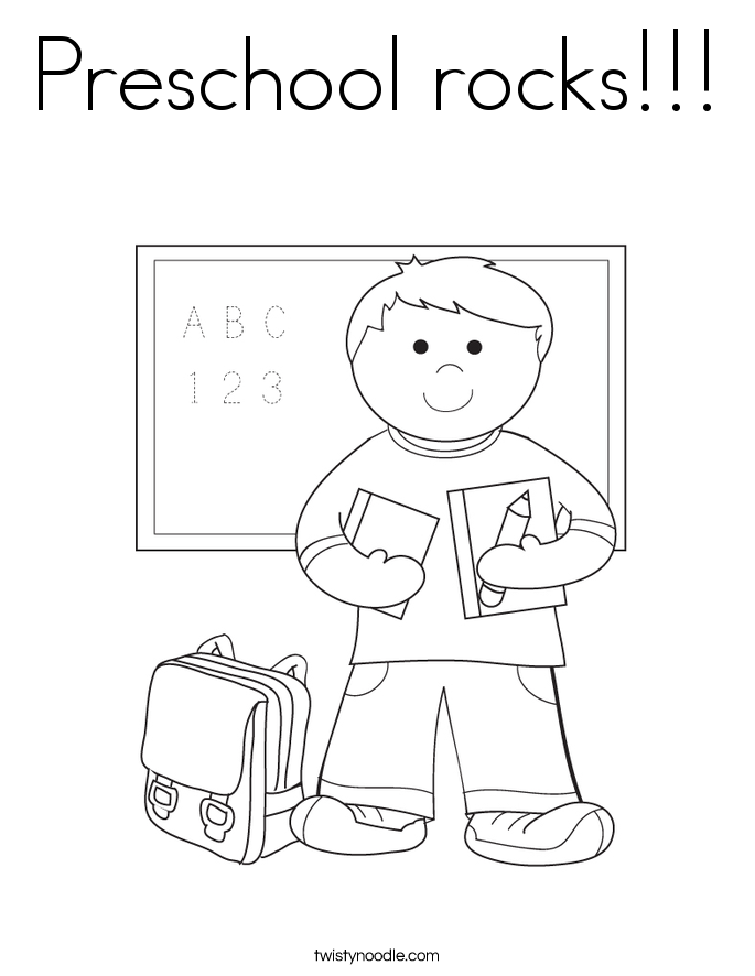 Preschool Rocks Coloring Page
