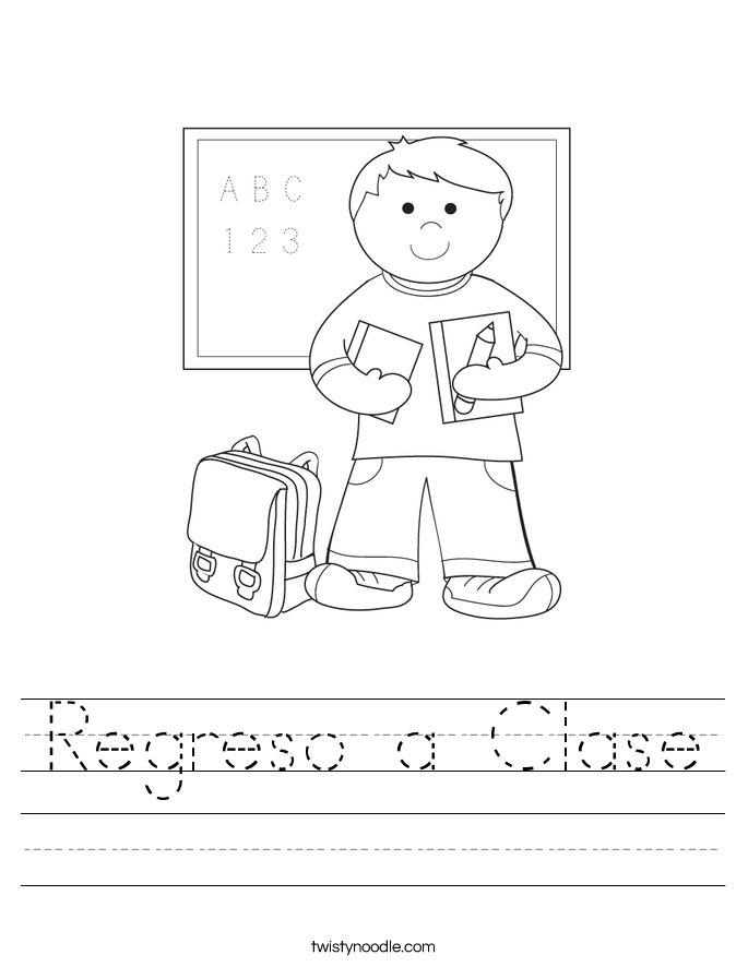 Regreso a Clase Worksheet