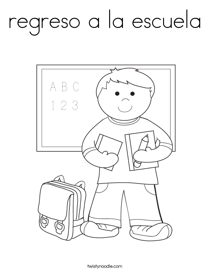 regreso a la escuela Coloring Page