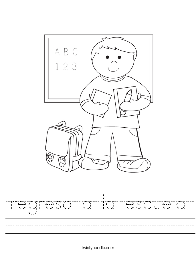 regreso a la escuela Worksheet