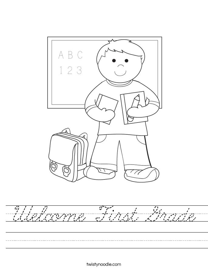 Welcome First Grade Worksheet