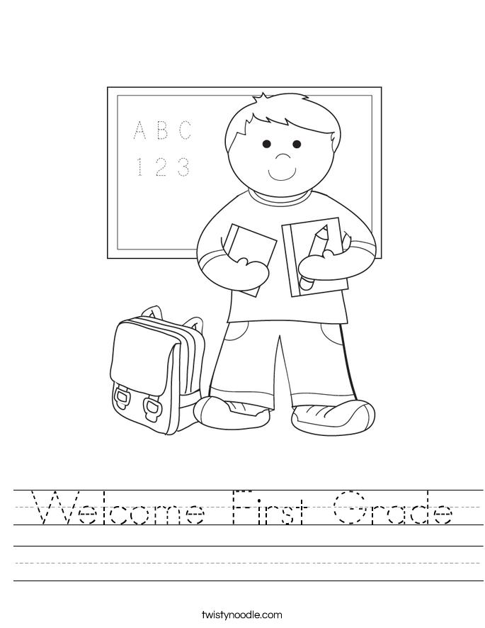 Wele First Grade Worksheet Twisty Noodle. Wele First Grade Worksheet. First Grade. Worksheet For First Grade At Clickcart.co