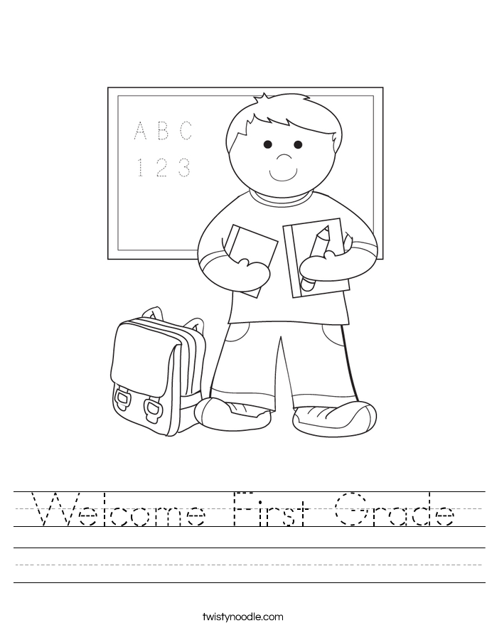 Welcome First Grade Worksheet Twisty Noodle