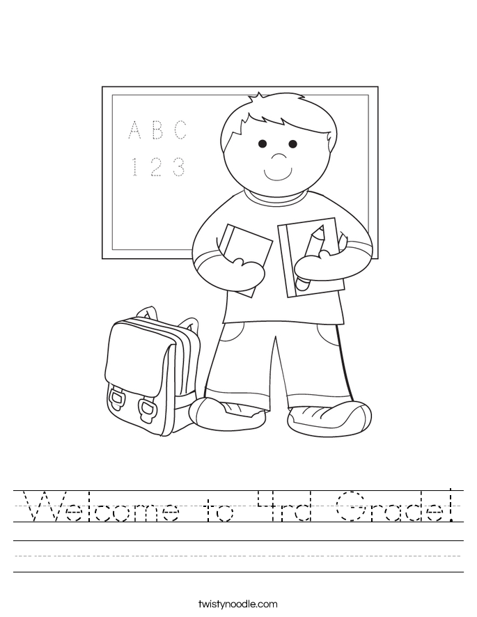 Welcome to 4rd Grade! Worksheet