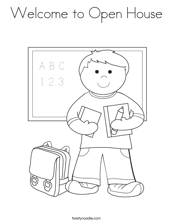 school open house coloring pages - photo#1