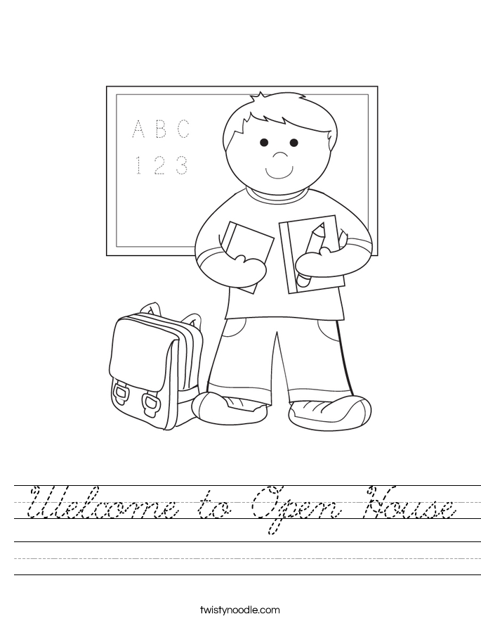 Welcome to Open House Worksheet