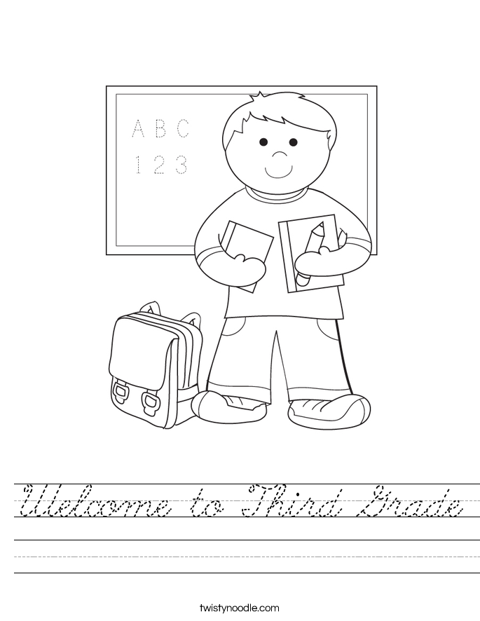 Welcome to Third Grade Worksheet