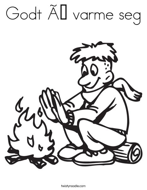 Warm Fire! Coloring Page