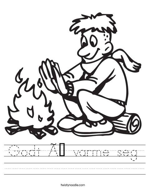 Warm Fire! Worksheet