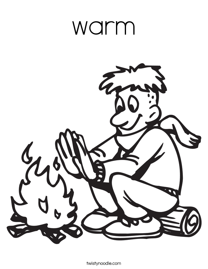 warm Coloring Page