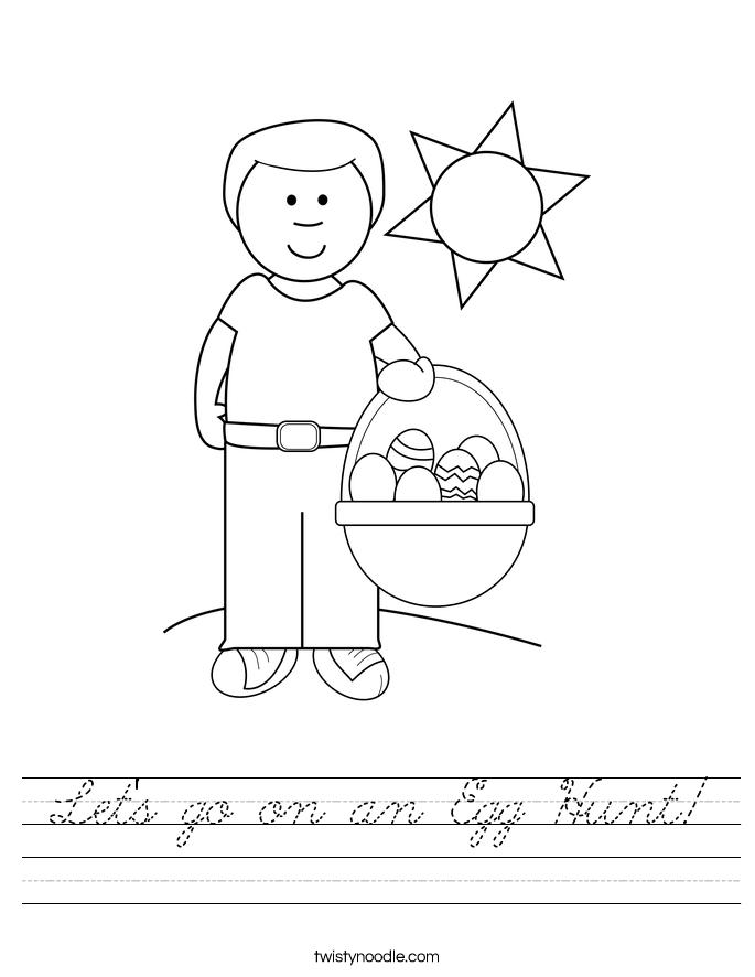 Let's go on an Egg Hunt! Worksheet