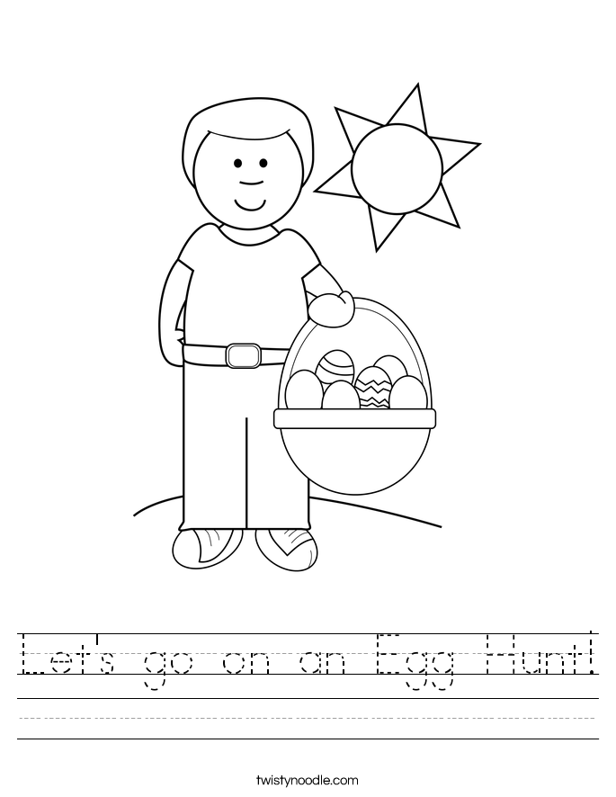 Let's go on an Egg Hunt! Worksheet