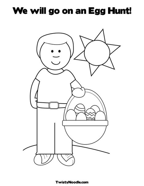 coloring pages for easter basket. Print Your Coloring Page