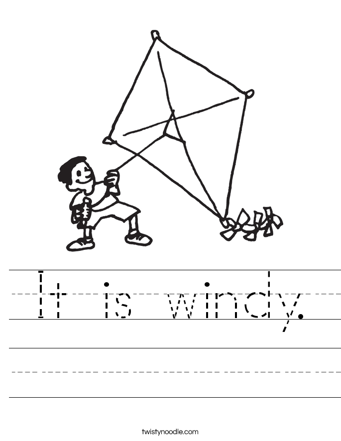 It is windy. Worksheet
