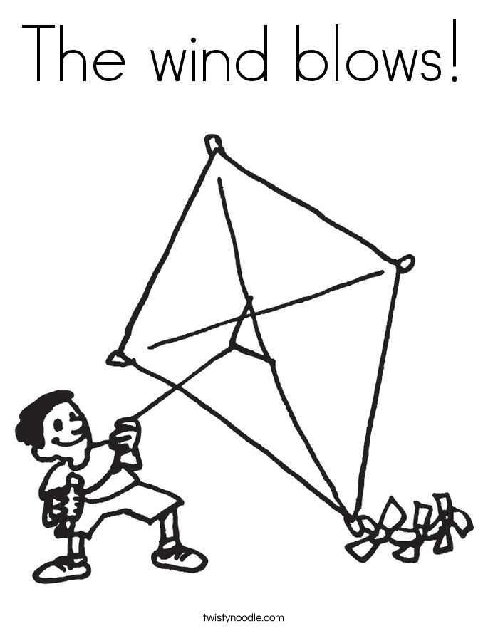 The wind blows! Coloring Page