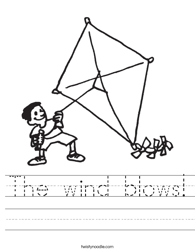 The wind blows! Worksheet