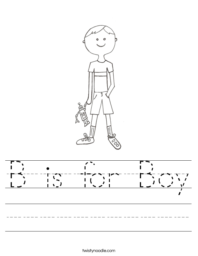 B is for Boy Worksheet