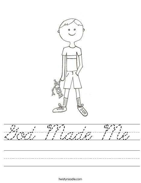 28+ [ God Made Me Worksheet ] | 5 best images of god made me ...