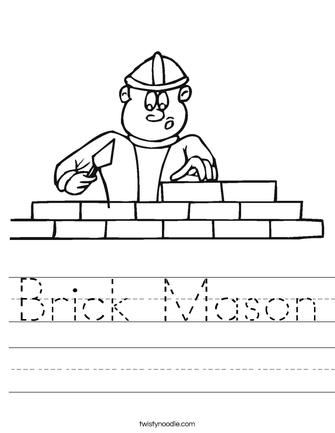 Brick Mason Worksheet