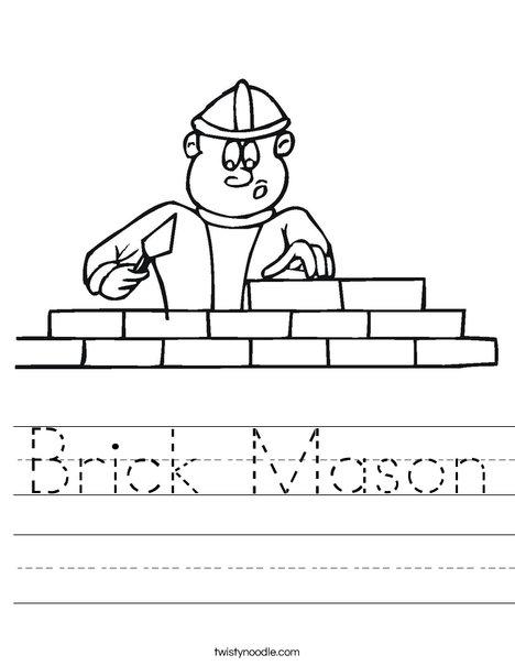 Bricklayer Worksheet