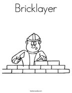 Bricklayer Coloring Page