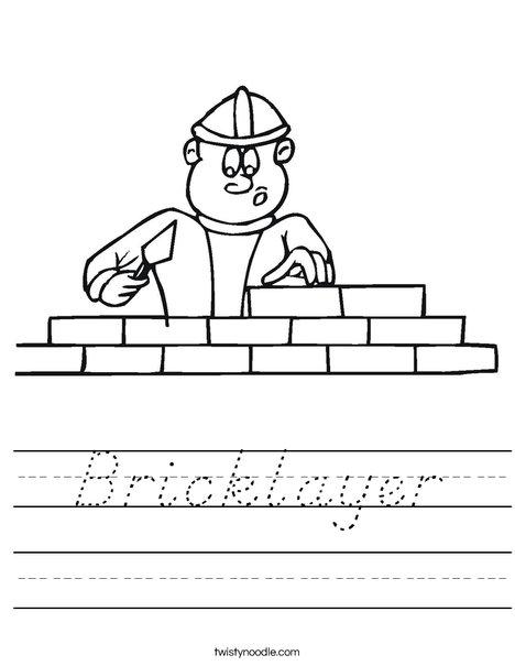 Bricklayer Worksheet