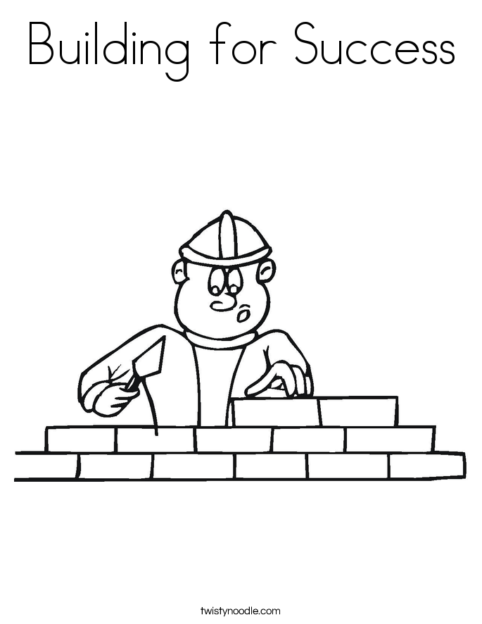 Building for Success Coloring Page
