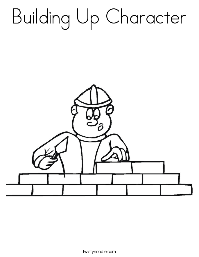 Building Up Character Coloring Page