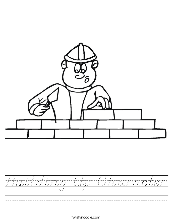 Building Up Character Worksheet