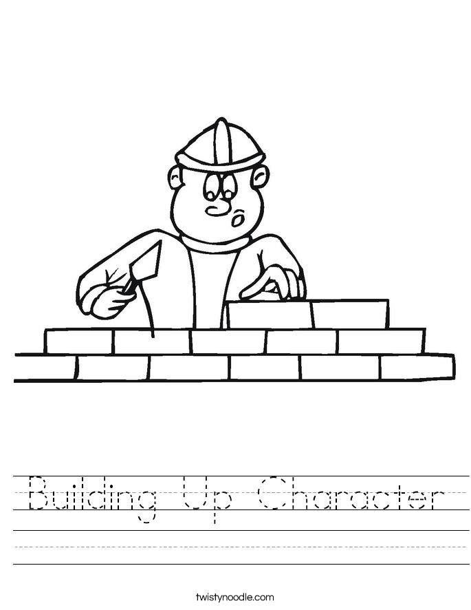 Building Up Character Worksheet Twisty Noodle – Character Building Worksheets