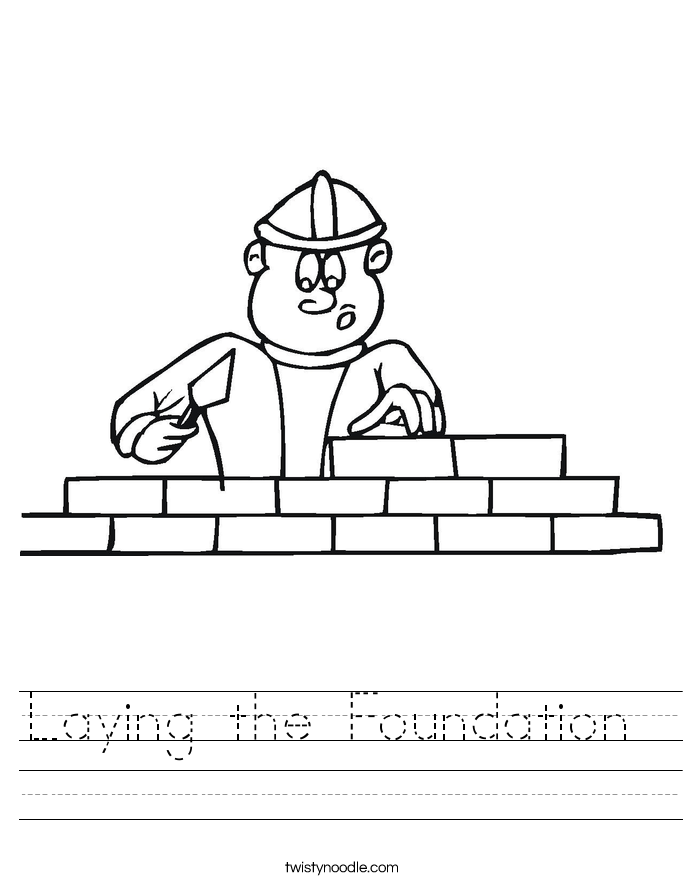 Laying the Foundation  Worksheet