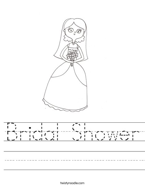 Bridal Shower Worksheet