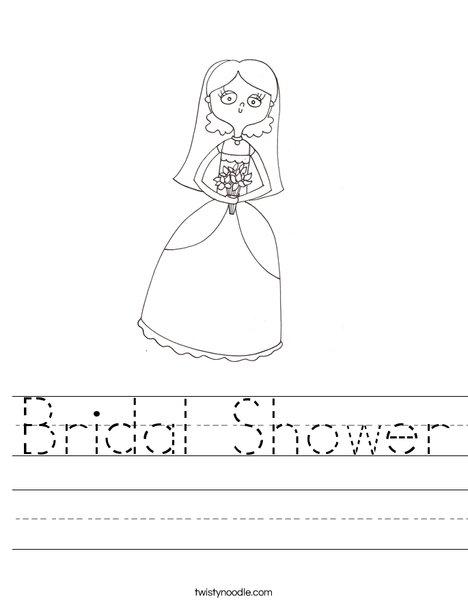 Bridal Shower Worksheet
