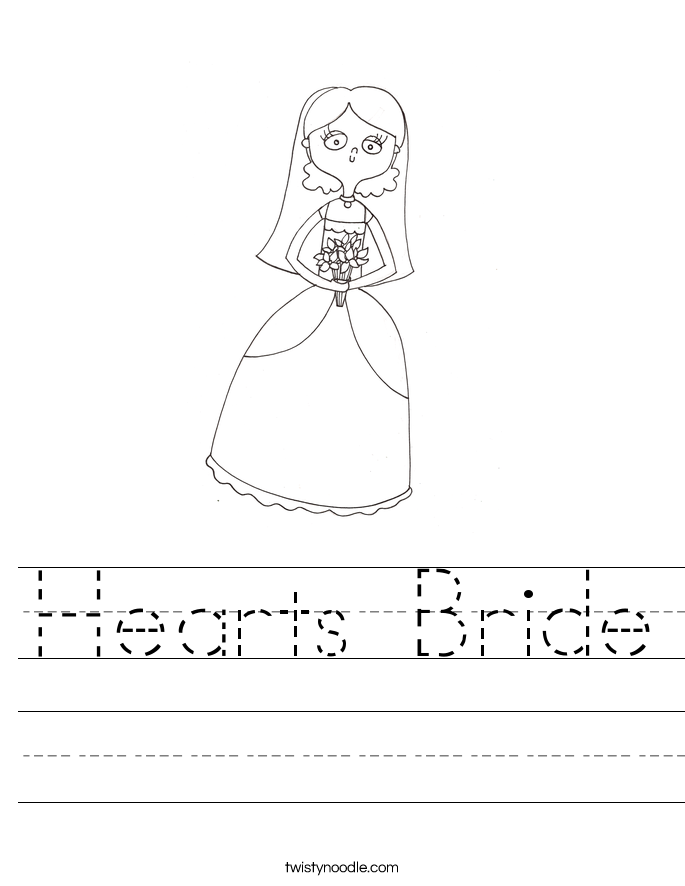 Hearts Bride Worksheet