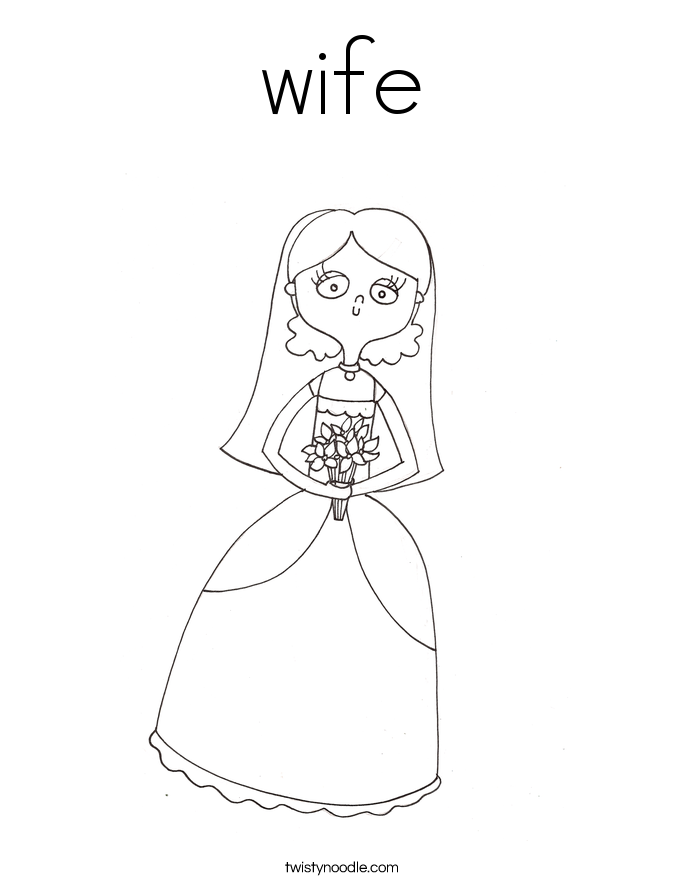 wife Coloring Page