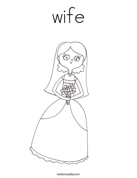 Bridal Shower Coloring Page