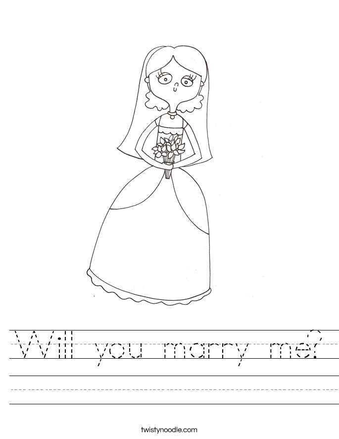 Will you marry me? Worksheet