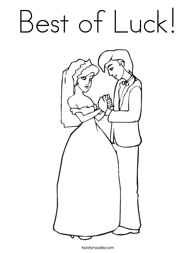 Best of Luck! Coloring Page